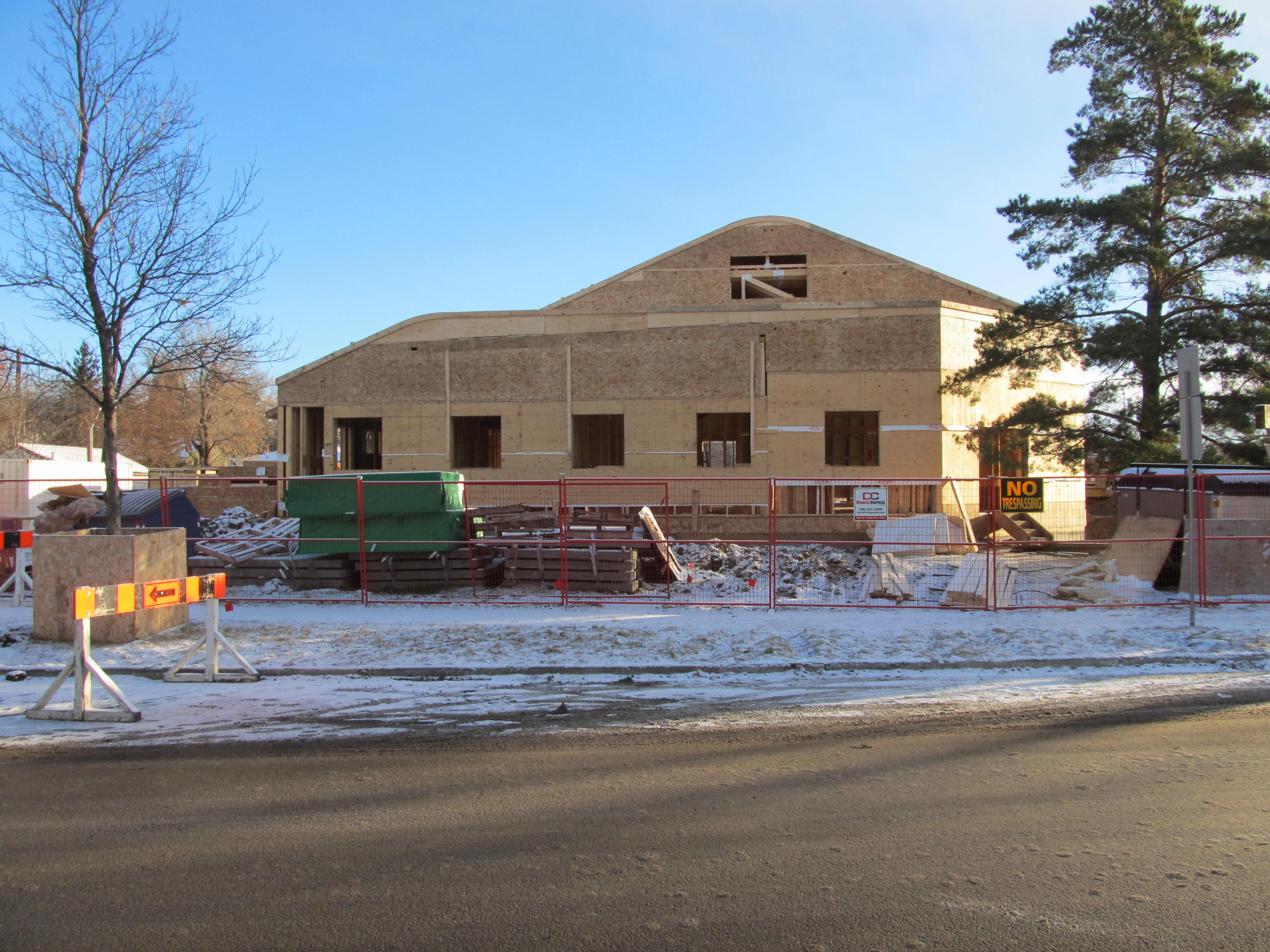 Church/Multi-use building fully enclosed (late December)